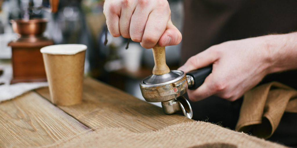 using a coffee tamper