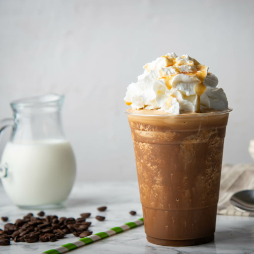 frappe in a plastic cup