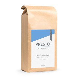 Presto decaf coffee bag